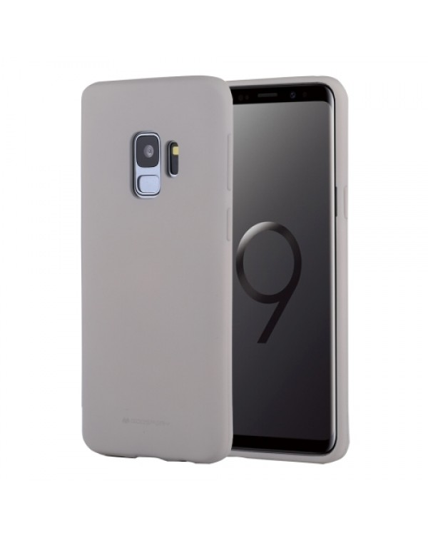GOOSPERY SOFT FEELING for Galaxy S9 TPU Drop-proof Soft Protective Back Cover (Gery)
