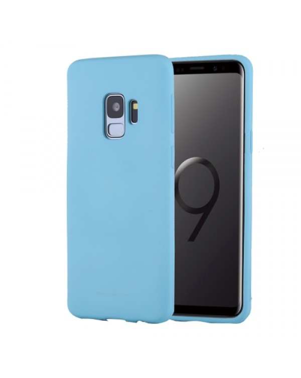 GOOSPERY SOFT FEELING for Galaxy S9 TPU Drop-proof Soft Protective Back Cover (Mint Green)
