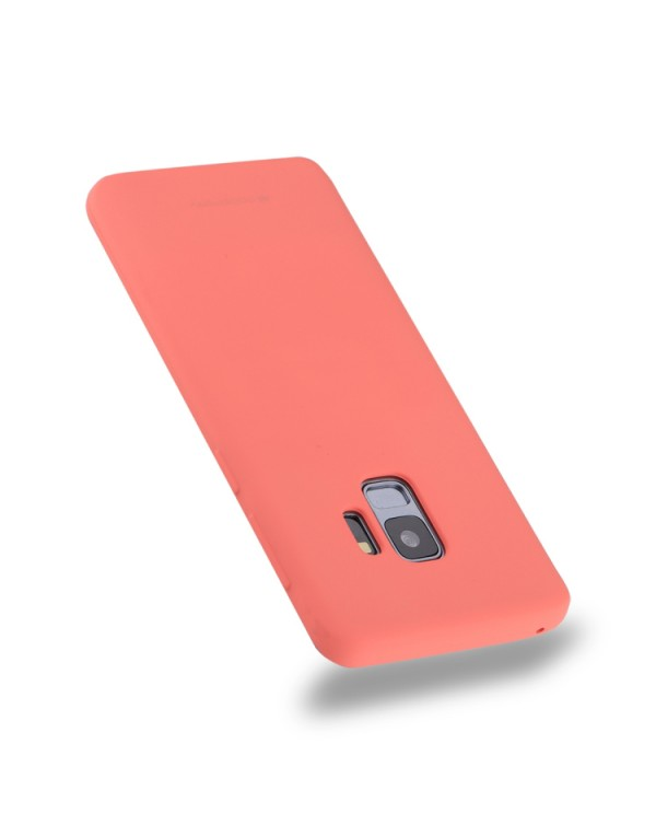 GOOSPERY SOFT FEELING for Galaxy S9 TPU Drop-proof Soft Protective Back Cover (Magenta)