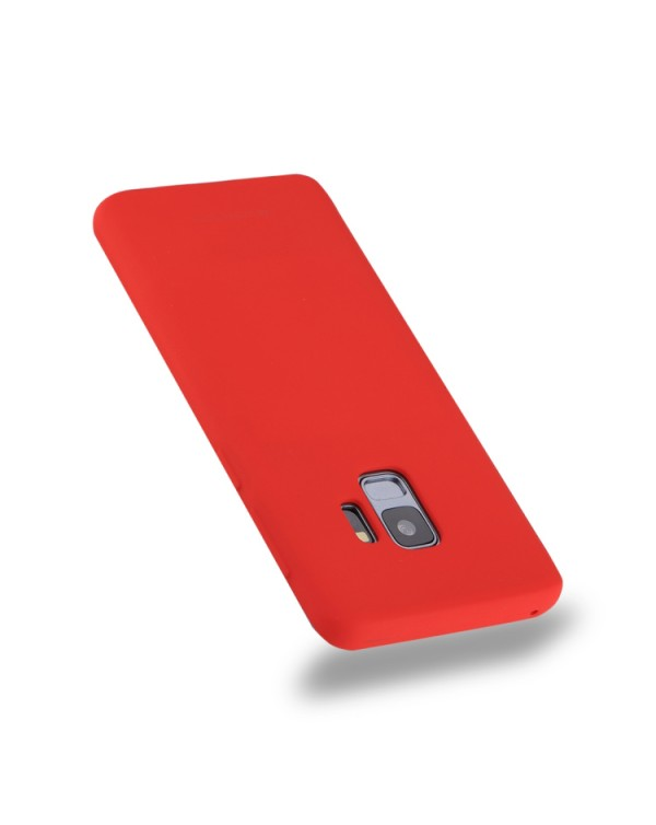 GOOSPERY SOFT FEELING for Galaxy S9 TPU Drop-proof Soft Protective Back Cover (Red)