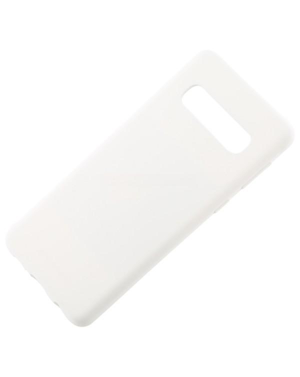 GOOSPERY SOFT FEELING Liquid TPU Drop-proof Soft Case for Galaxy S10 (White)