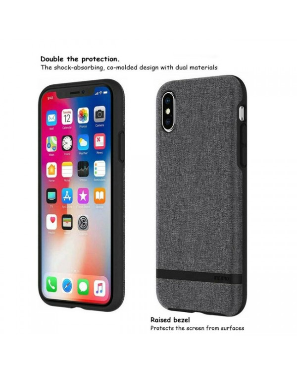 Incipio Esquire Fabric Textured Durable Impact Protection Case For iPhone X/XS