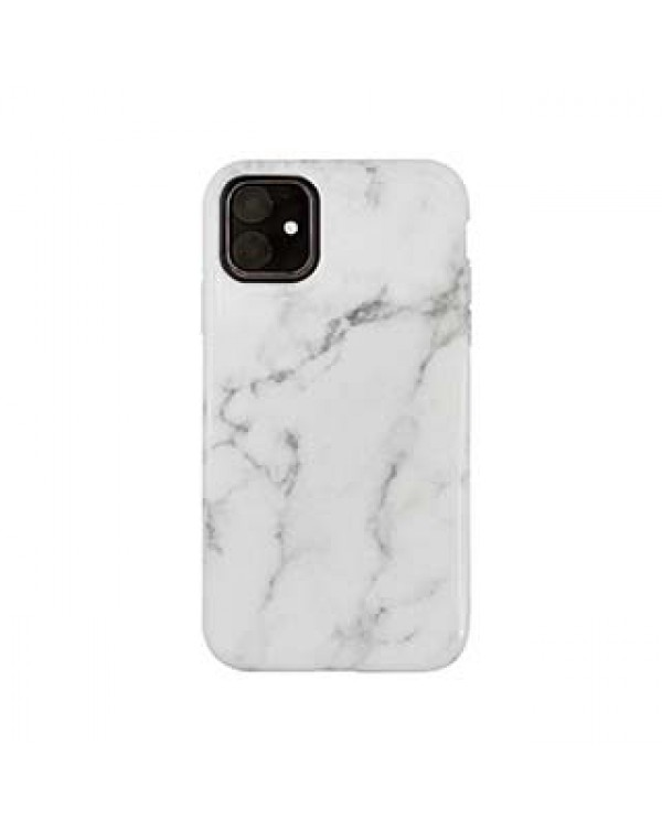 iPhone 11/XR Uunique White/Gold (White Marble) Nutrisiti Eco Printed Marble Back Case