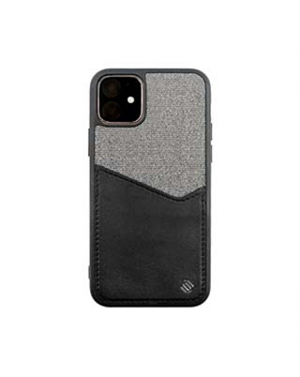 iPhone 11/XR Uunique Black Carbon Pocket Case