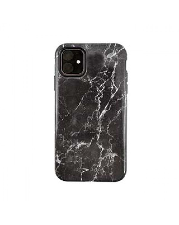 iPhone 11/XR Uunique Black (Midnight Marble) Nutrisiti Eco Printed Marble Back Case