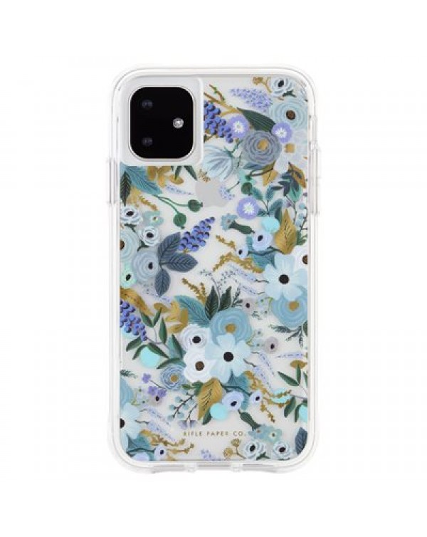 CASE-MATE RIFLE PAPER CASE FOR IPHONE 11, GARDEN PARTY BLUE