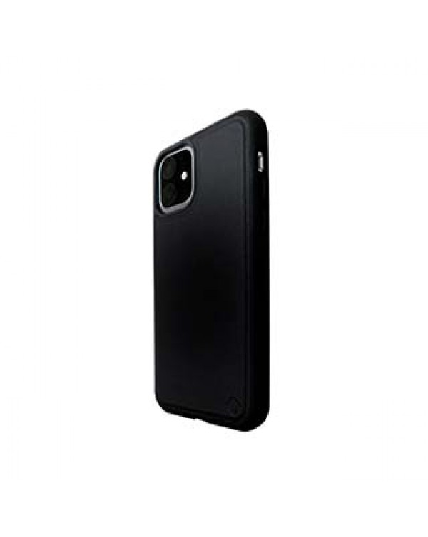 iPhone 11/XR Uunique Black (Black Olive) Nutrisiti Eco Leather Back Case