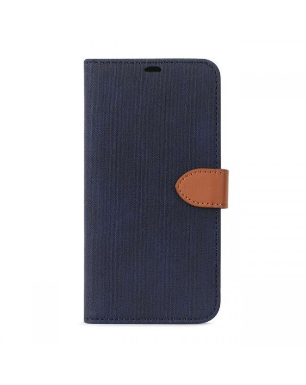Blu Element - 2 in 1 Folio Case Blue/Tan for iPhone SE 2020/8/7
