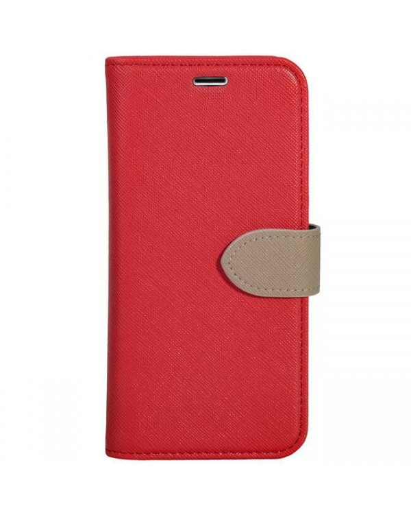 Blu Element - 2 in 1 Folio Case Red/Butterum for iPhone SE 2020/8/7