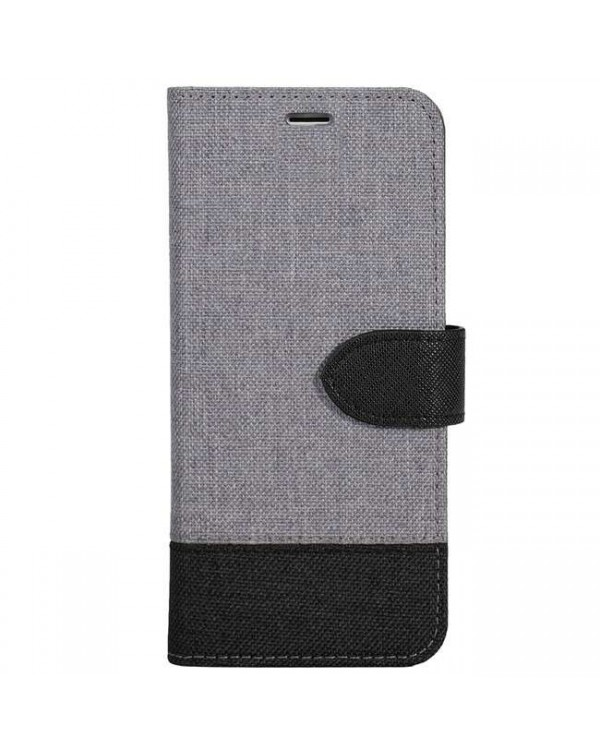 Blu Element - 2 in 1 Folio Case Grey/Black Bottom for iPhone SE 2020/8/7