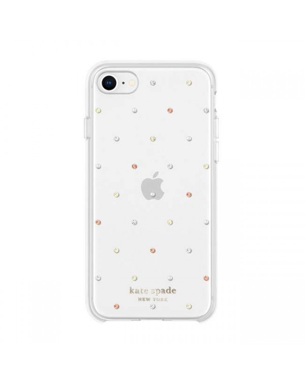Kate Spade - Protective Hardshell Case Pin Dot Gems for iPhone SE 2020/8/7