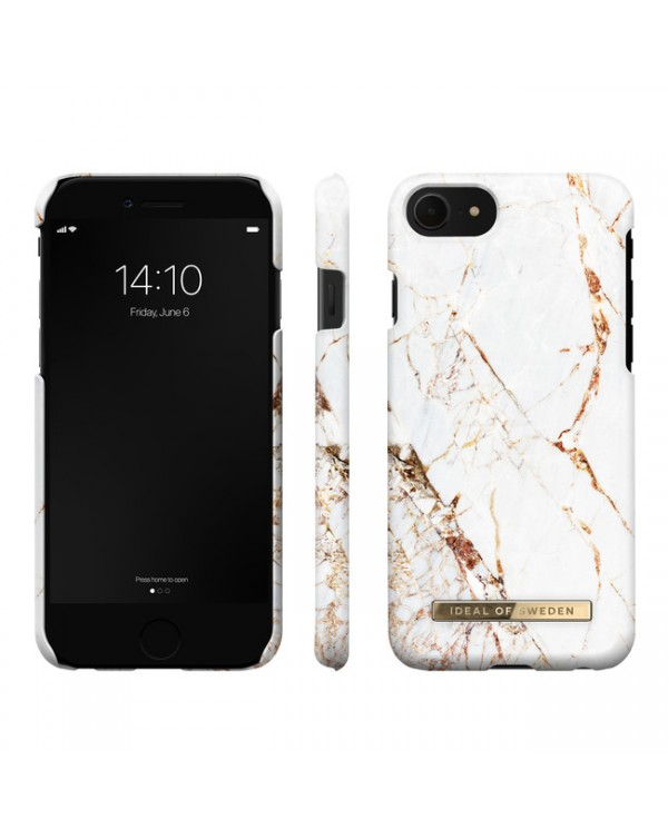 Ideal of Sweden - Fashion Case Carrara Gold for iPhone SE/8/7