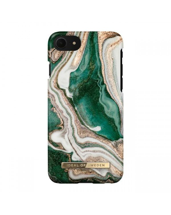 Ideal of Sweden - Fashion Case Golden Jade Marble for iPhone SE/8/7