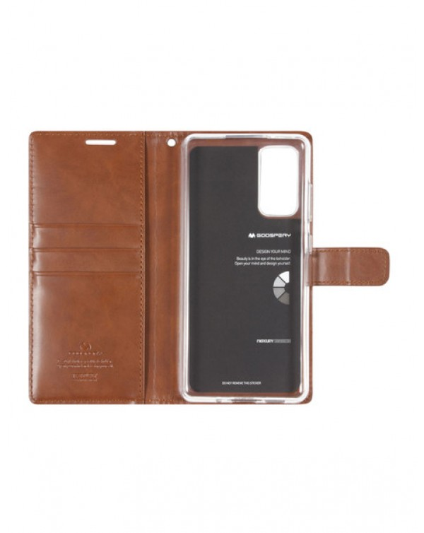 Mercury Bluemoon Diary for Samsung Galaxy S20 Plus 5G (G781)/Galaxy S20 Plus (G780) Brown