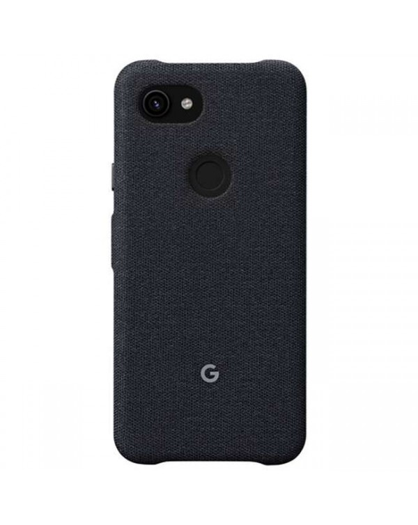 Google - Fabric Case Carbon (Black) for Google Pixel 3a