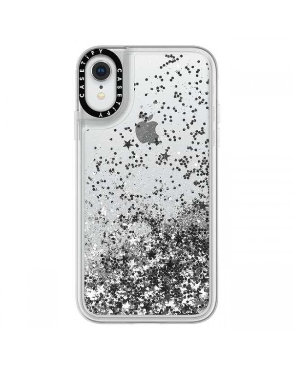 Casetify - Glitter Case Silver for iPhone XR