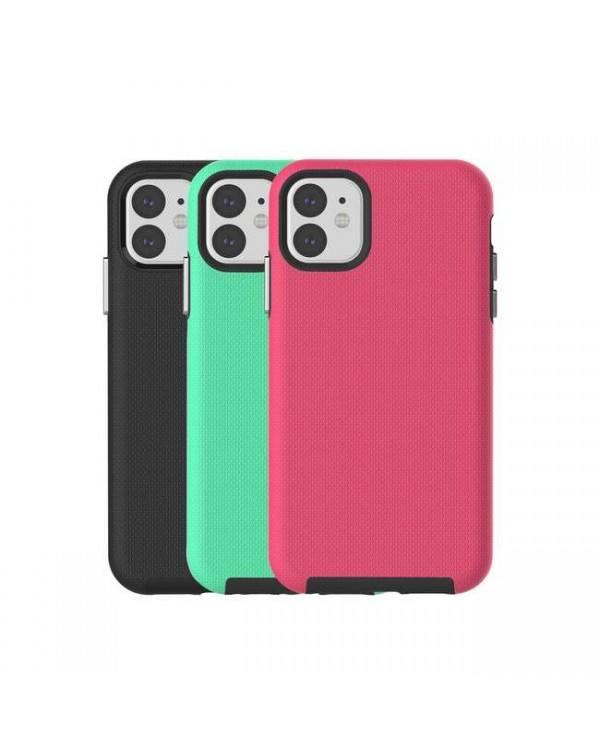 Blu Element - Armour 2X Fresh Kit Case Black/Pink/Teal for iPhone 11/XR