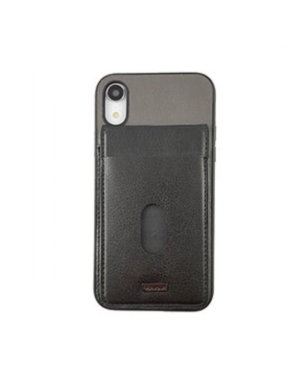 iPhone XR Uunique Black/Grey Westminster Flip Pocket Case