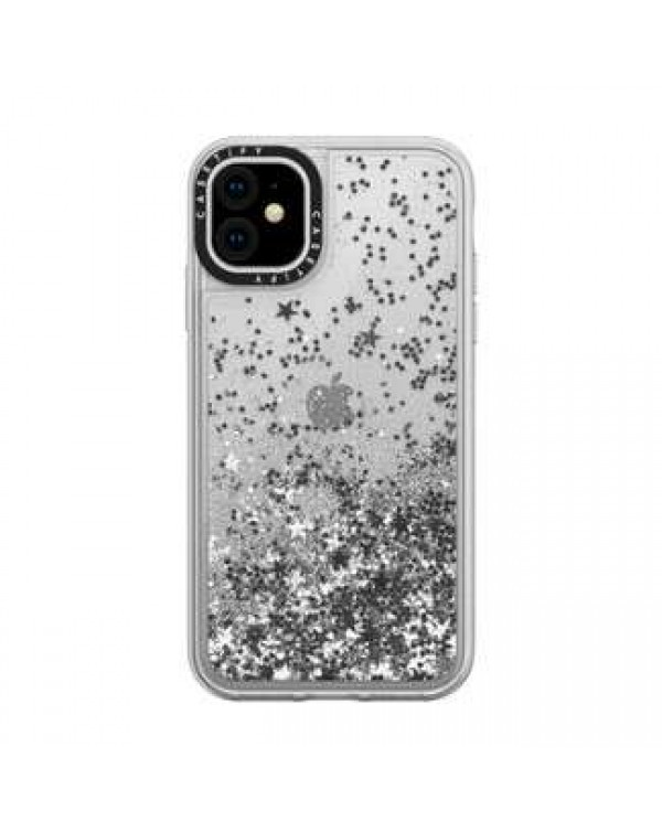 Casetify - Glitter Case Monochrome Silver for iPhone 11