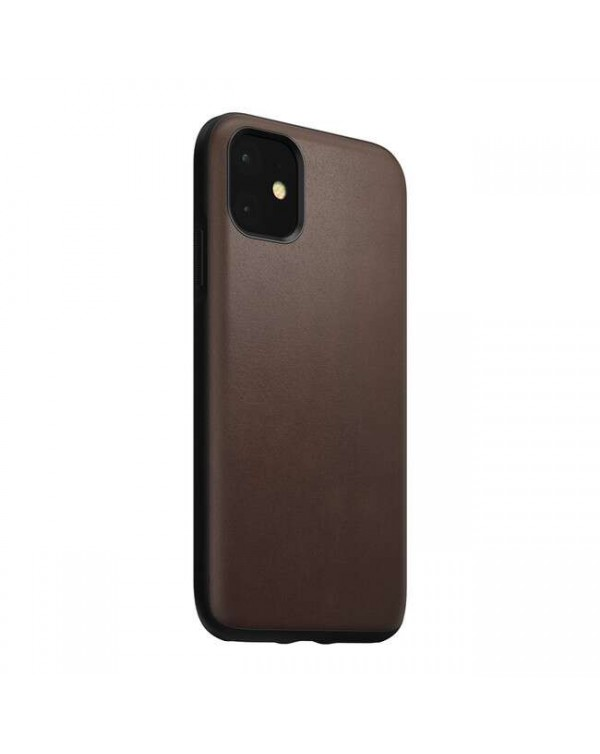 Nomad - Rugged Leather Case Brown for iPhone 11