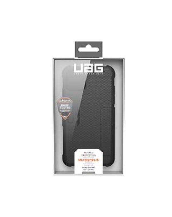 iPhone 11/XR UAG Black Metropolis Folio Case
