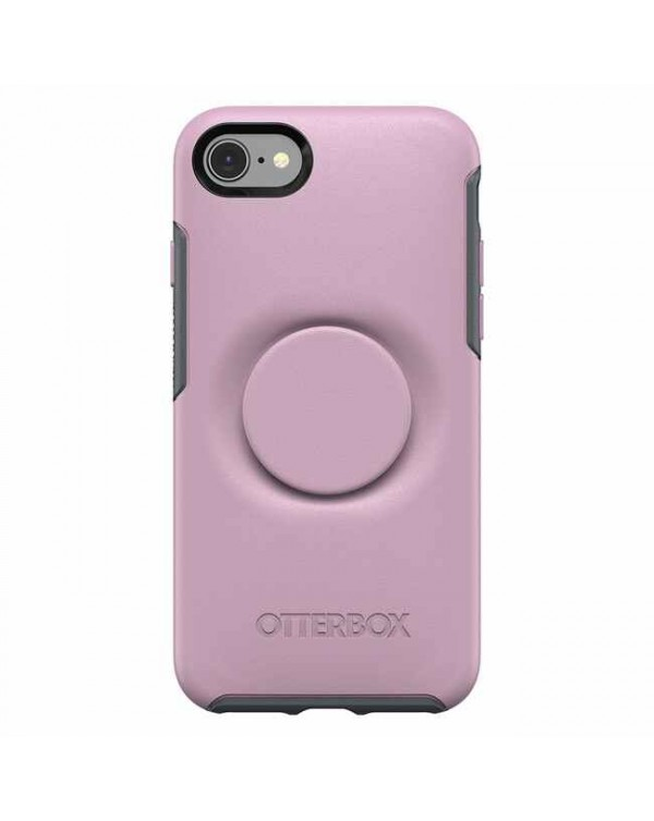 Otterbox - Otter + Pop Symmetry Case with Swappable PopTop Mauvelous for iPhone SE 2020/8/7