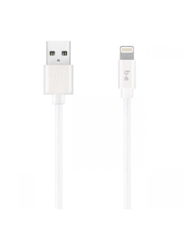 Blu Element - Braided Charge/Sync Lightning to USB Cable 6ft White