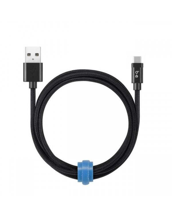 Blu Element - Braided Charge/Sync USB-C Cable 6ft Black