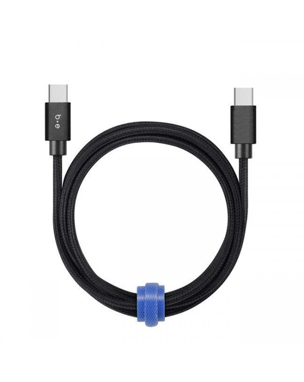 Blu Element - Braided Charge/Sync Lightning to USB Cable 6ft Black