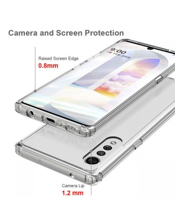 Blu Element - DropZone Rugged Case Clear for LG Velvet