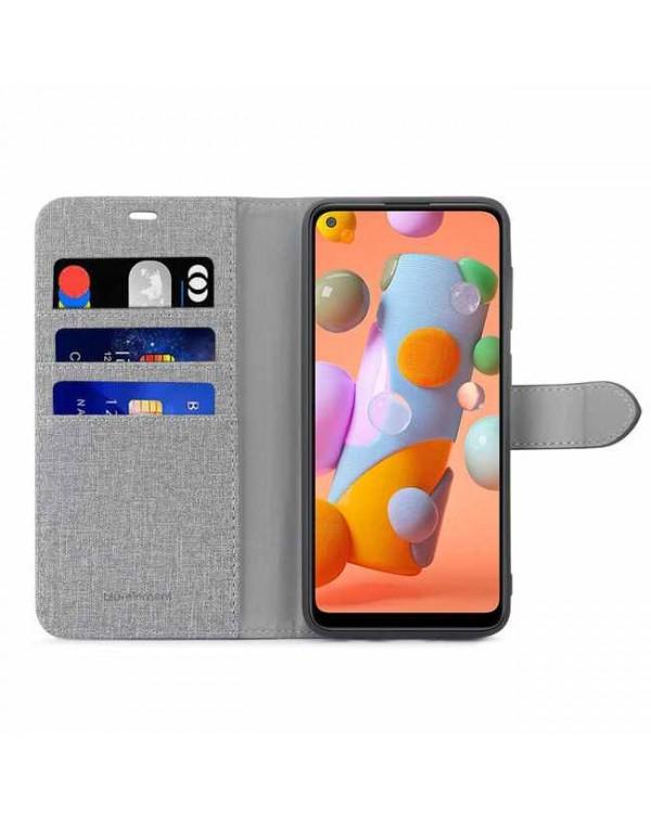 Blu Element - 2 in 1 Folio Case Grey/Black for Samsung Galaxy A11