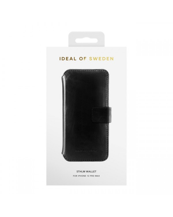 Ideal of Sweden - STHLM Wallet Case Black for iPhone 12 Pro Max