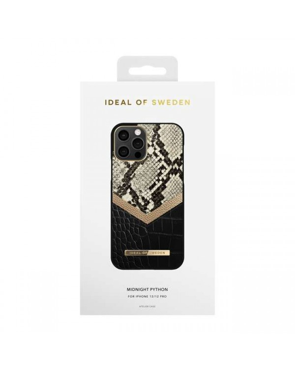 Ideal of Sweden - Atelier Fashion Case Midnight Python for iPhone 12/12 Pro