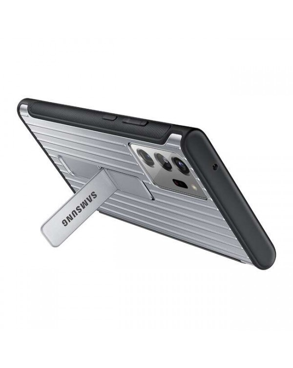 Samsung - Protective Standing Cover Case Silver for Samsung Galaxy Note20 Ultra