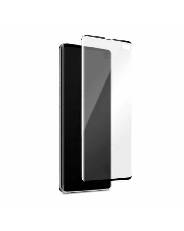 3D Curved Glass Screen Protector with Fingerprint Scanner for Samsung Galaxy S10+