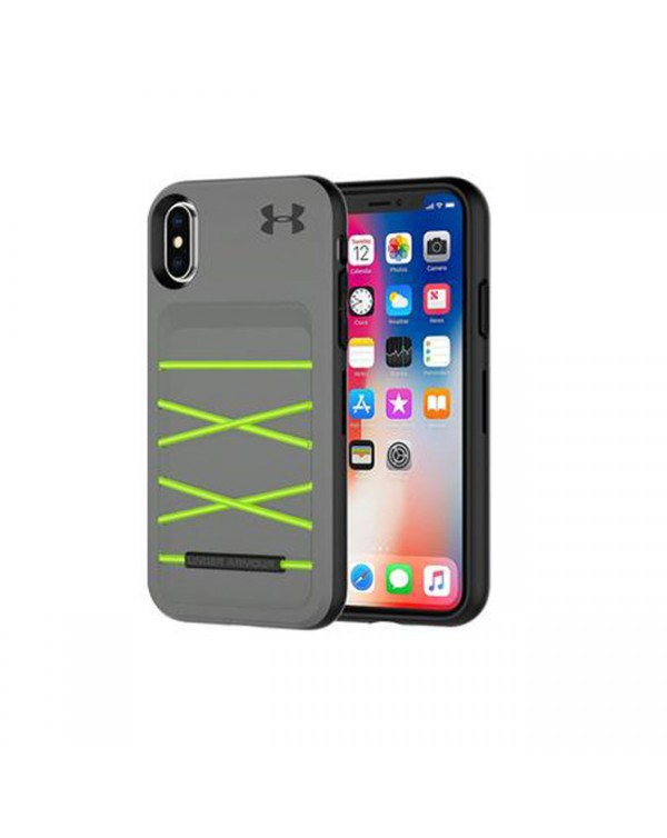Under Armour UA Protect Ultimate Case For Apple iPhone X iPhone XS - GRAPHITE AND QUIRKY LIME