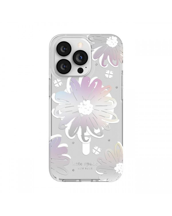 Kate Spade - Protective Case for MagSafe Daisy Iridescent for iPhone 13 Pro