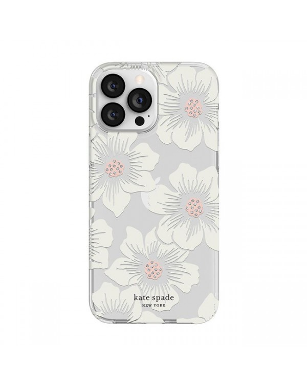 Kate Spade - Protective Hardshell Case Hollyhock Floral for iPhone 13 Pro
