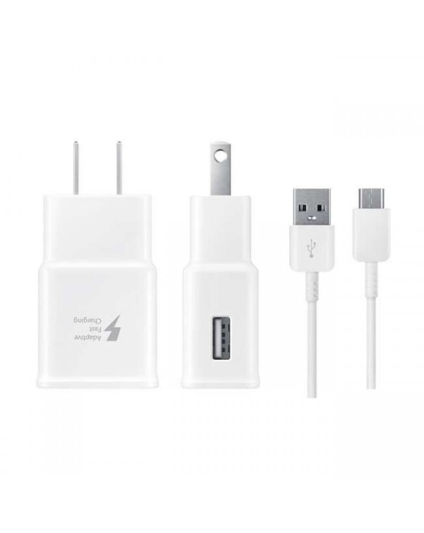 Samsung - AFC Wall Charger 2A with USB-C Cable 5ft White