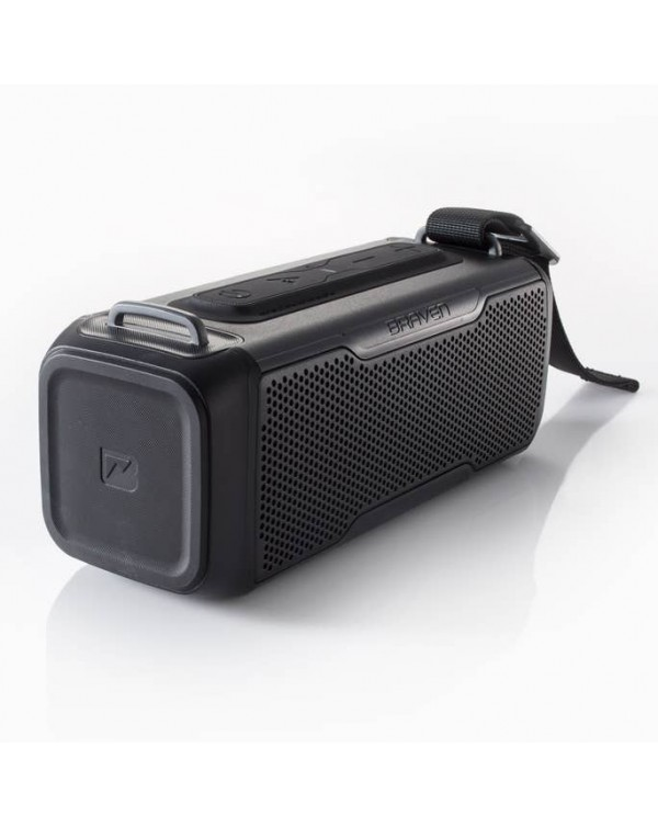 BRAVEN BRV-X/2 Rugged Portable Bluetooth Speaker (Black)
