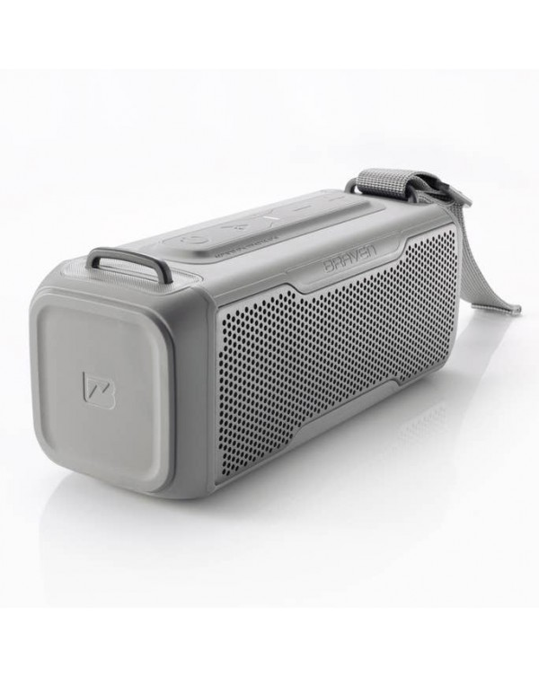 BRAVEN BRV-X/2 Rugged Portable Bluetooth Speaker (Gray)