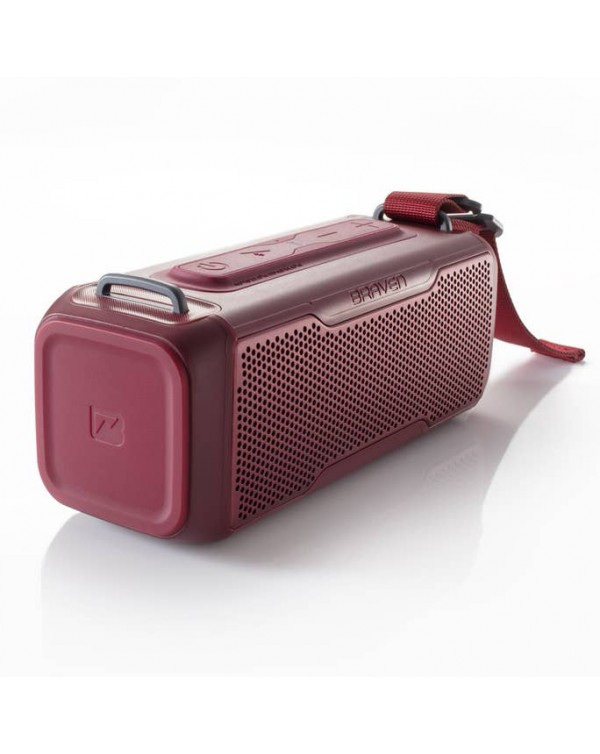 BRAVEN BRV-X/2 Rugged Portable Bluetooth Speaker (Red)