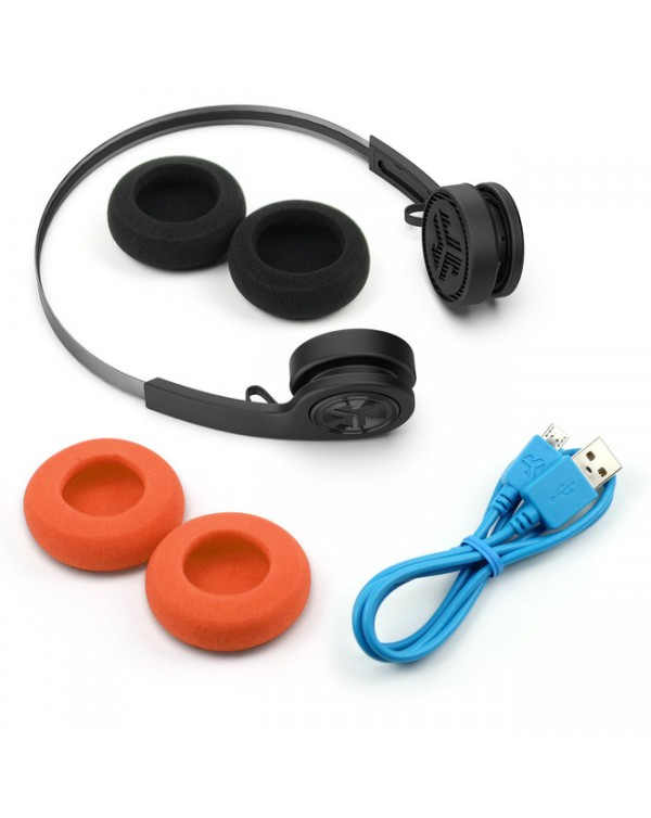 JLab Audio - Rewind Wireless Retro Headphones Black