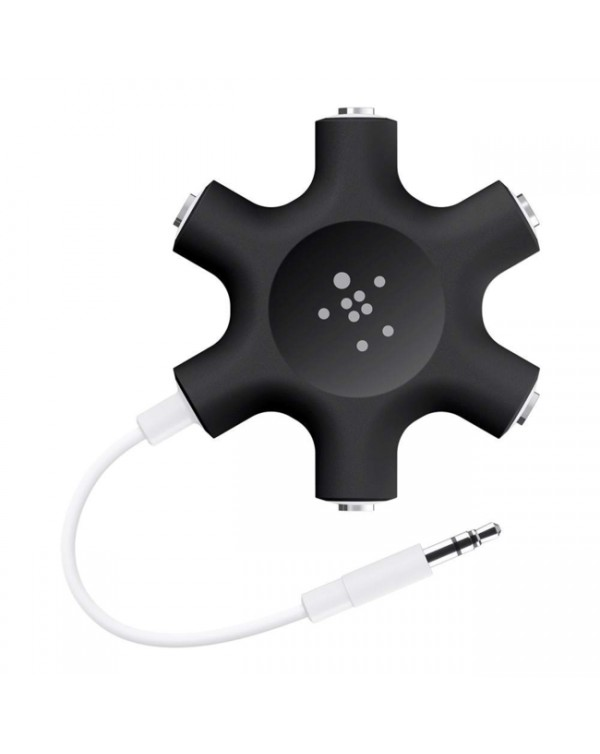 Belkin - Rockstar 5 Way 3.5mm Audio Splitter Black