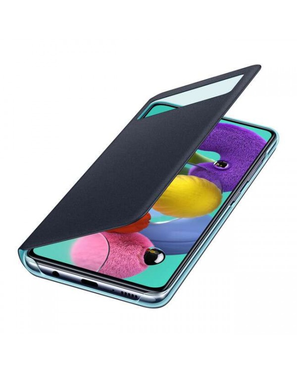 Samsung - View Wallet Cover Case Black for Samsung Galaxy A51