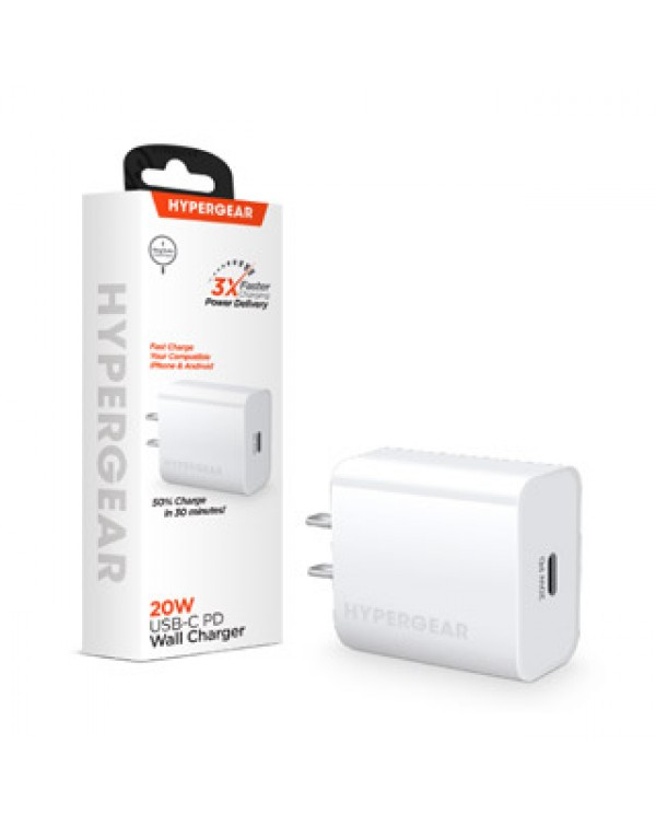 Hypergear 20W White USB-C PD Wall Charger Hub