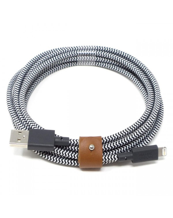 Charge/Sync XL Lightning Cable 10ft Zebra