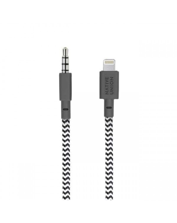 Lightning to 3.5mm Headphone Jack Adapter 4ft Zebra