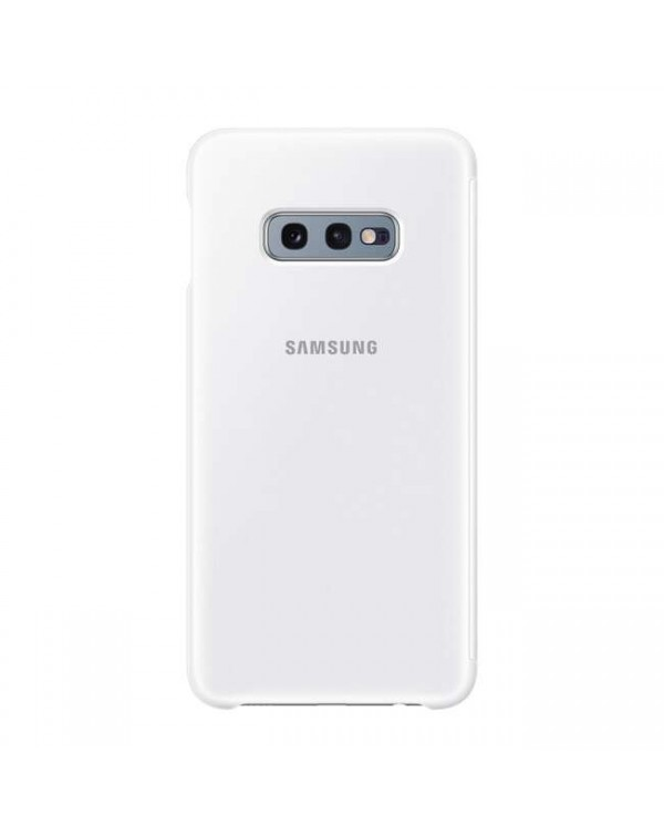Samsung - Clear View Cover Case White for Samsung Galaxy S10e