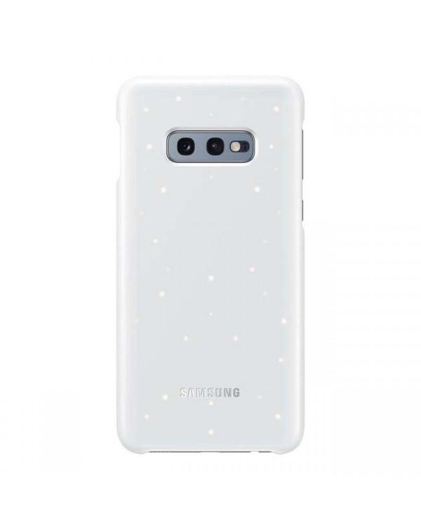 Samsung - LED Back Cover Case White for Samsung Galaxy S10e